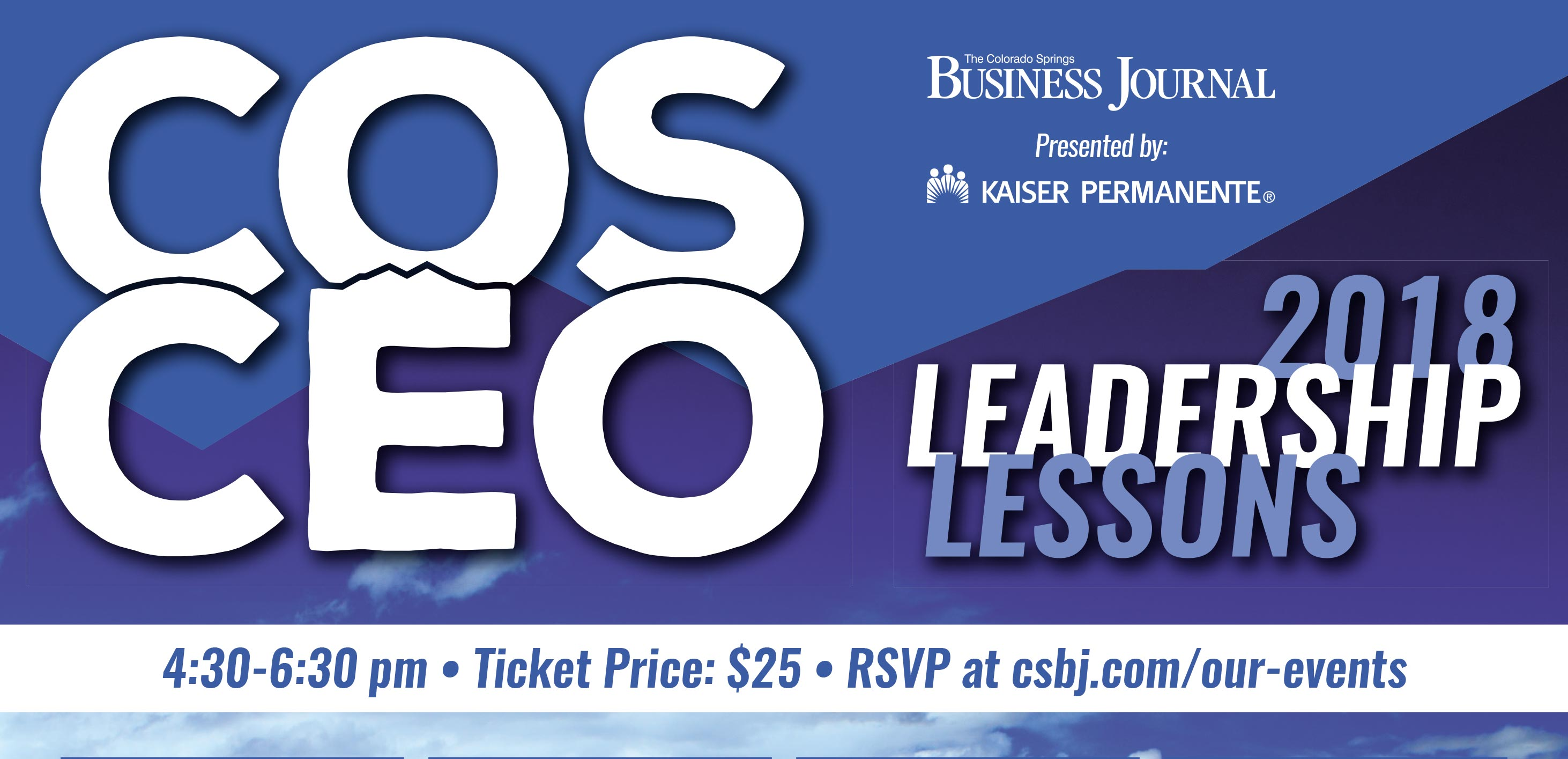 Cos ceo leadership lessons tickets the mining exchange sponsored by herring bank amnet ppcc the alternative board stockman kast ryan co and navakai malvernweather Images